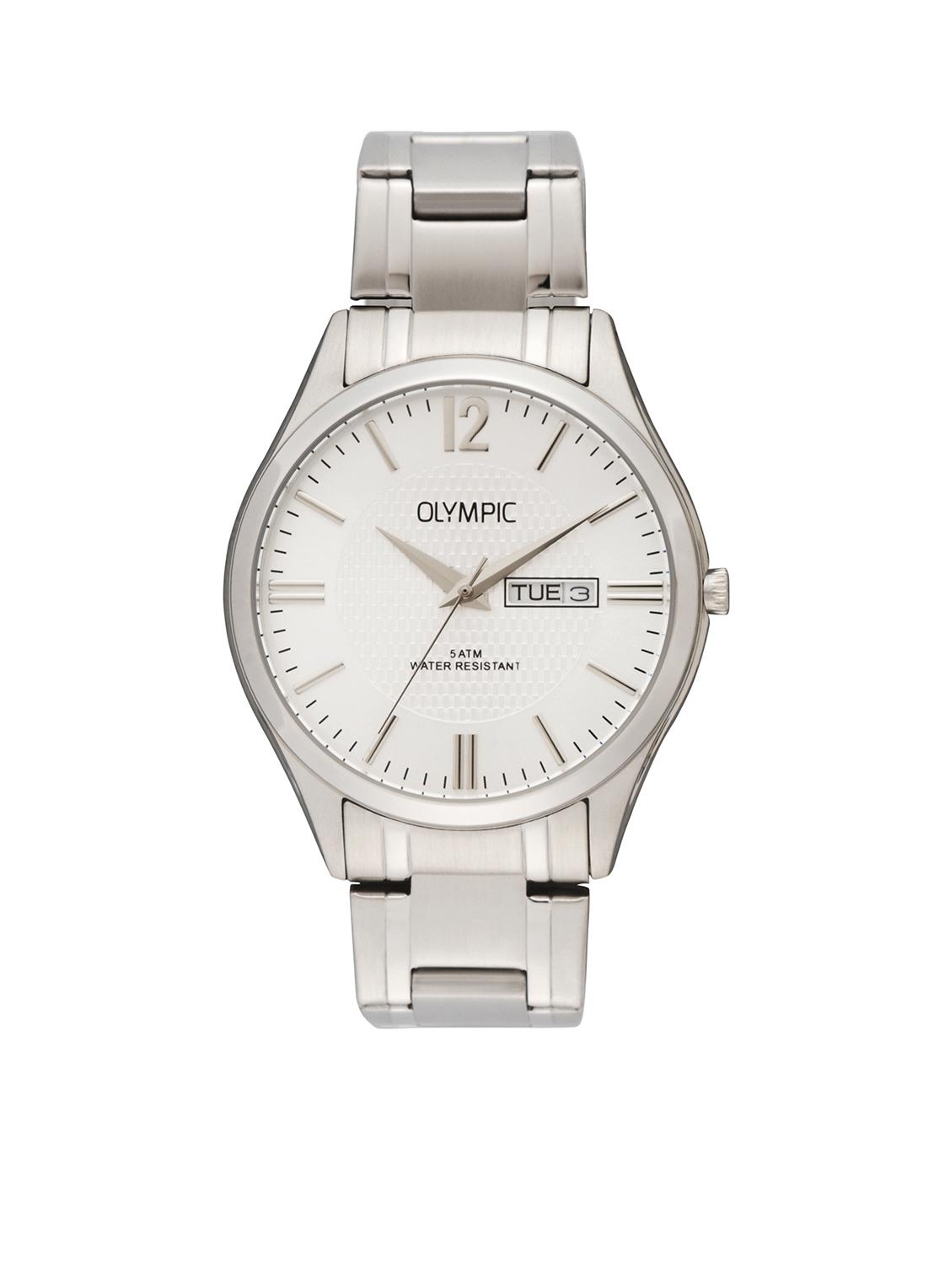 Olympic OL88HSS002 Torino Horloge Staal Zilverkleurig 40mm Heren