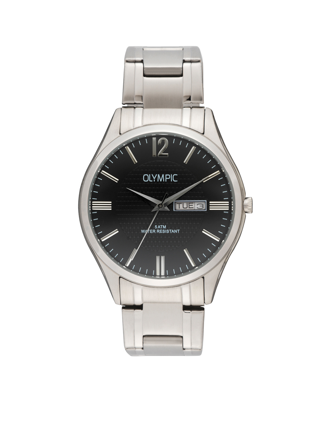 Olympic OL88HSS003 Torino Horloge Staal Zilverkleurig 40mm Heren