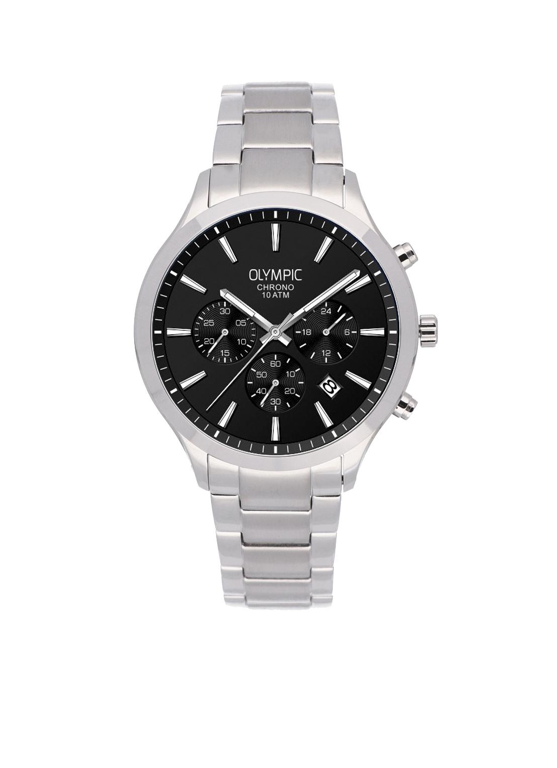 Olympic OL88HSS004 MONZA Horloge Staal Zilverkleurig 42mm Heren