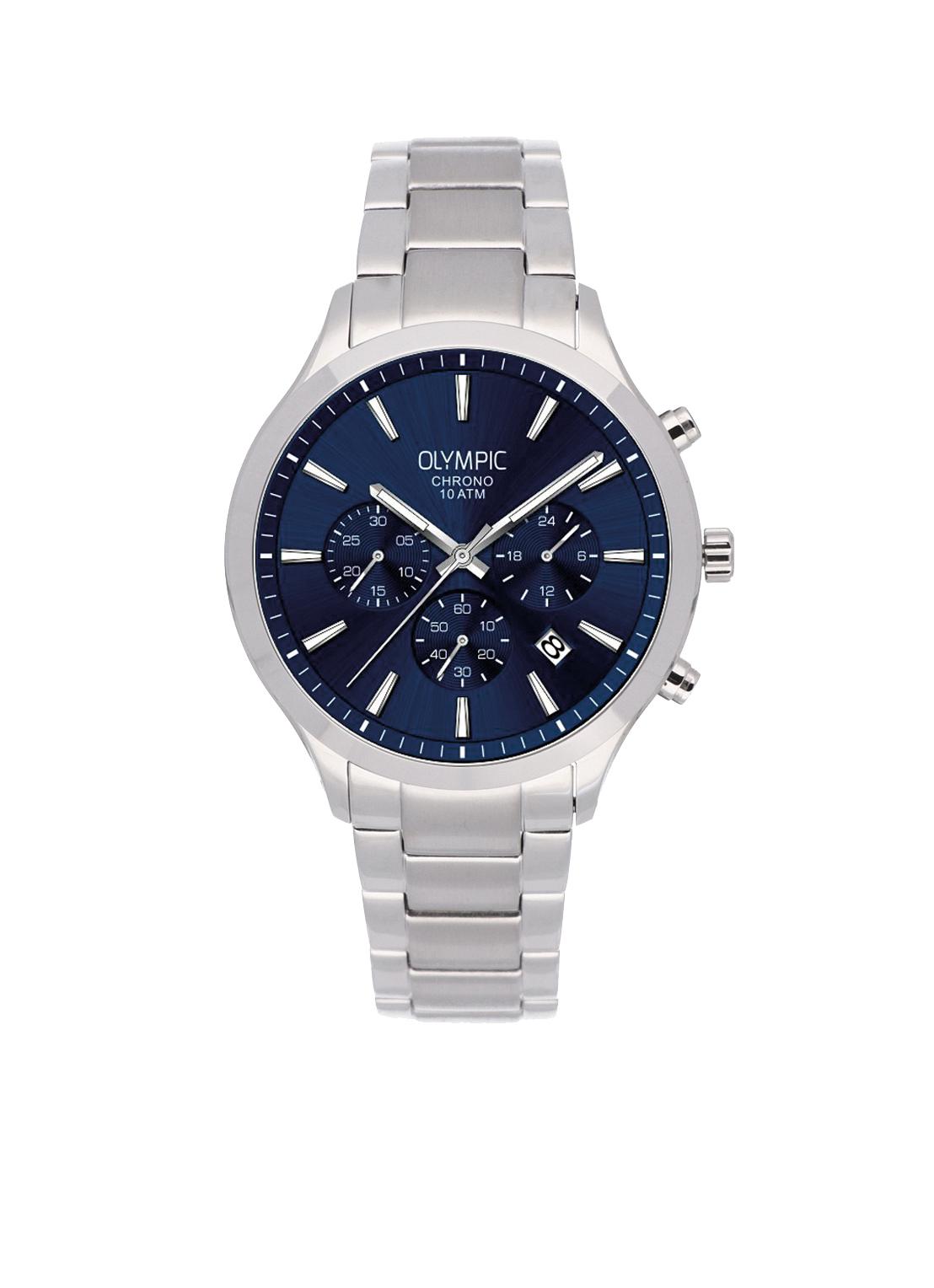 Olympic OL88HSS006 MONZA Horloge Staal Zilverkleurig 42mm Heren