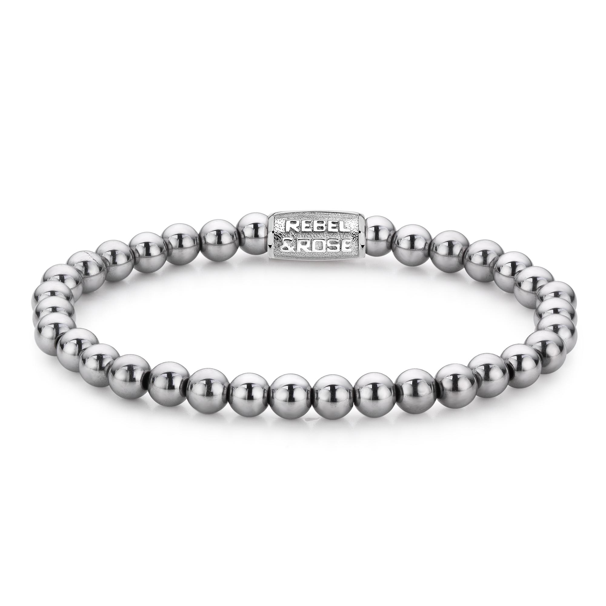 Rebel and Rose RR 60020 S Rekarmband Beads Silver Shine zilverkleurig 6 mm XS 15 cm