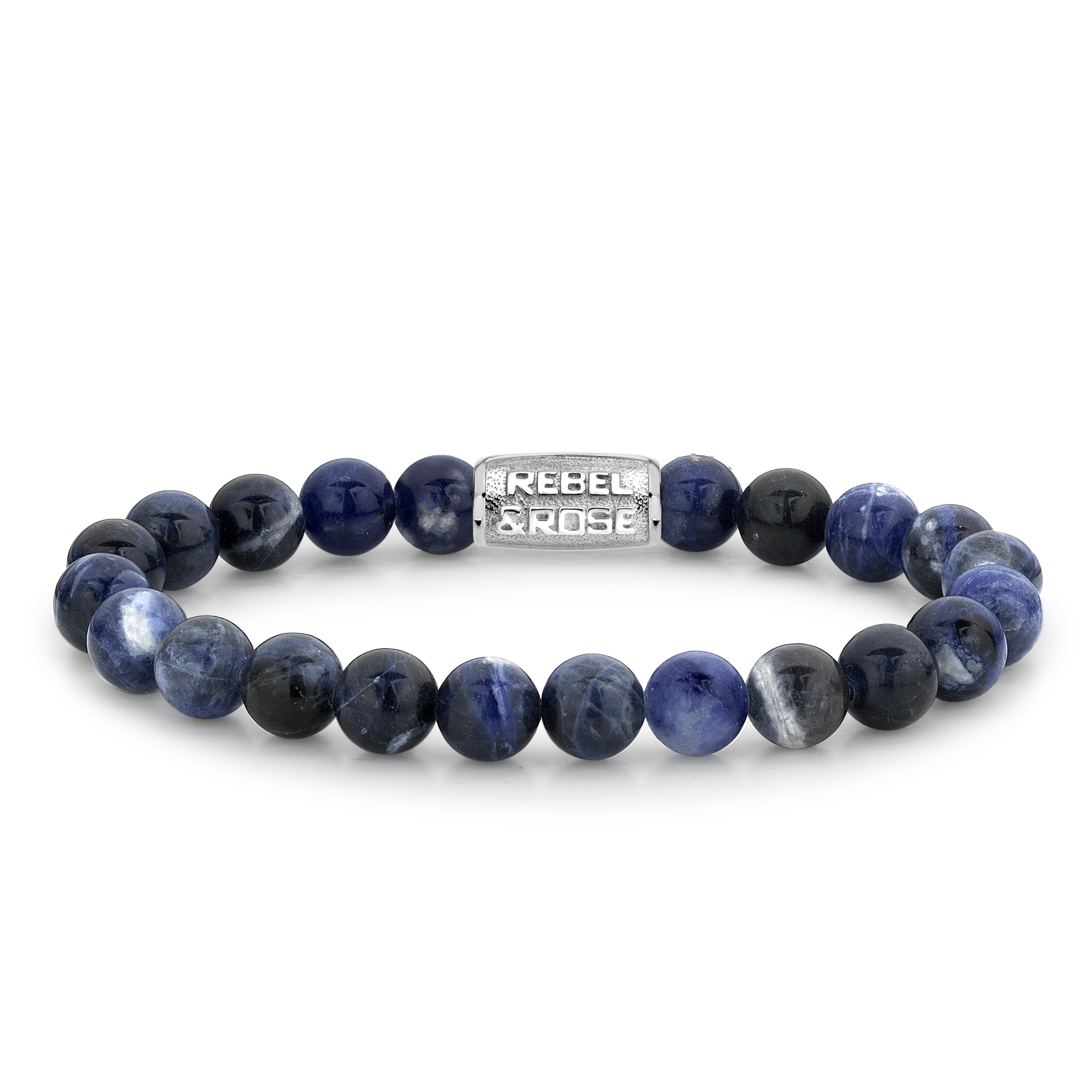 Rebel and Rose RR 80010 S Armband Midnight Blue 8 mm blauw zilver 21 cm
