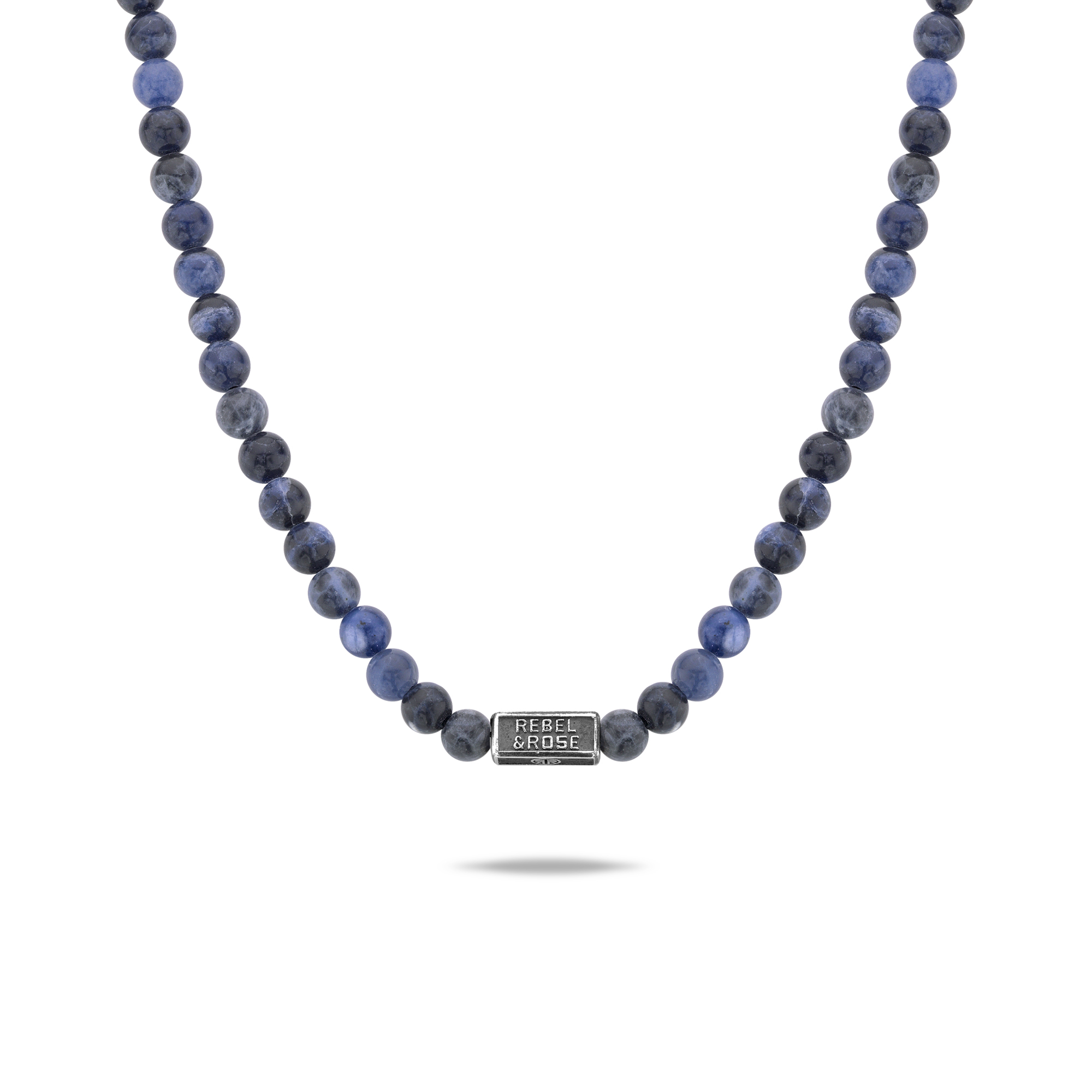 Rebel and Rose RR-NL014-S-70 Collier Necklace Midnight Blue - 6mm (70cm) L
