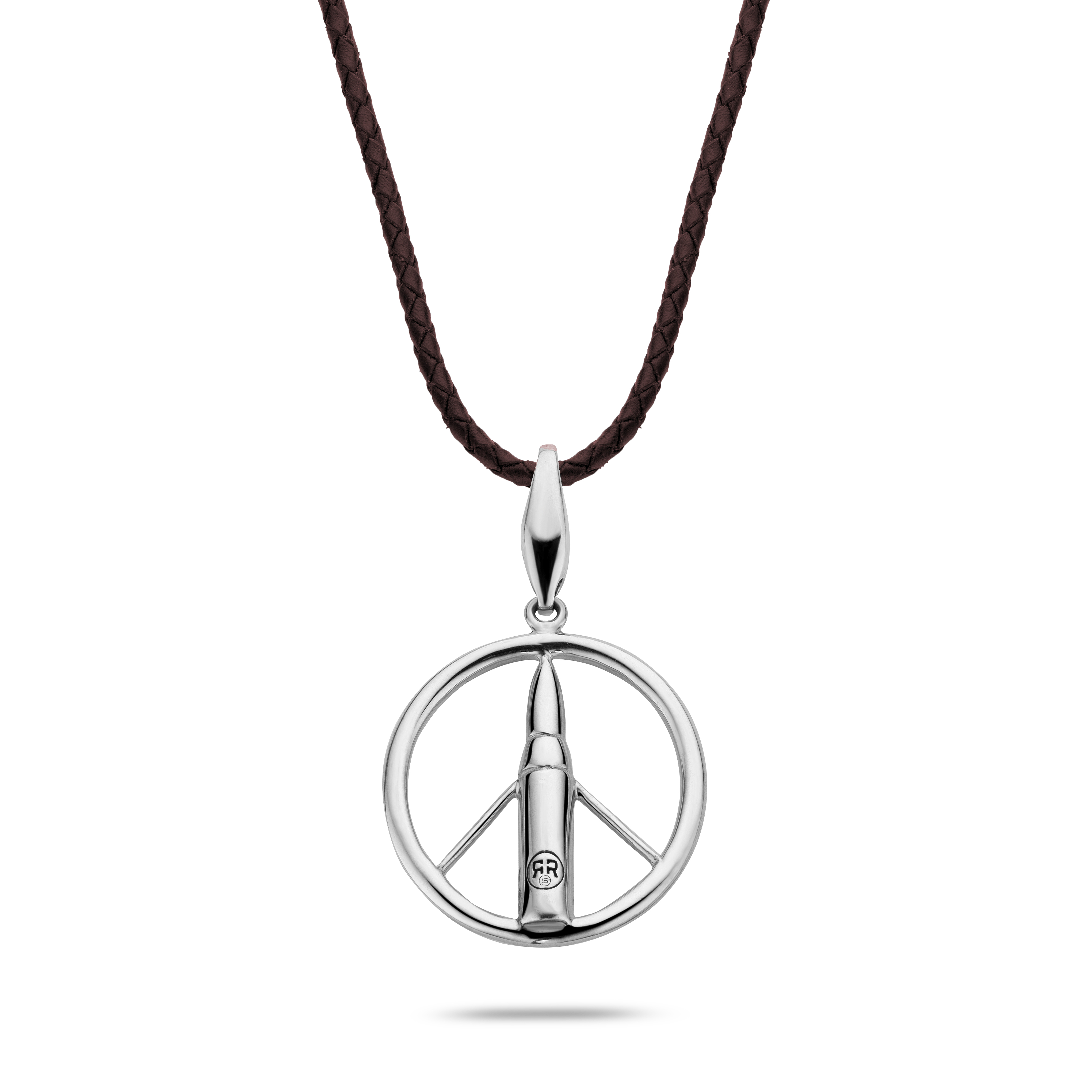 Rebel and Rose RR-NL018-S-L Collier Necklace Make Love Not War 925 Earth - L L