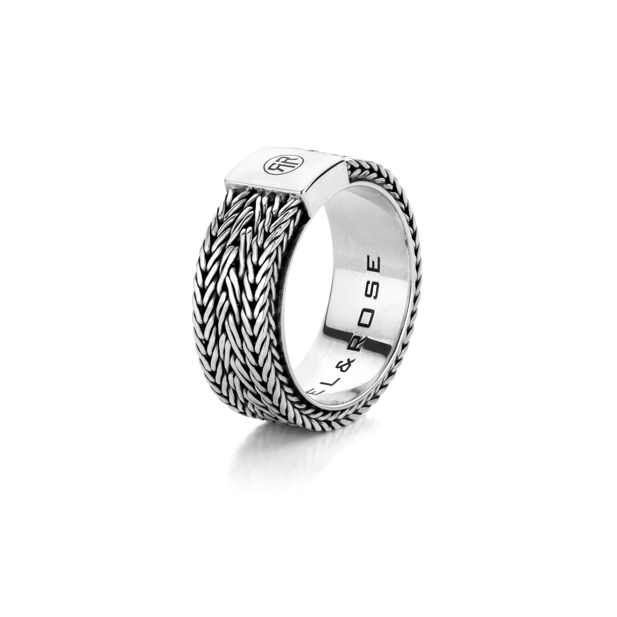 Rebel and Rose RR RG020 S Ring Triton zilver Maat 66