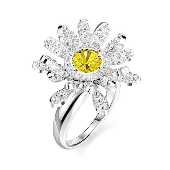 Swarovski 5534945 Ring Eternal Flower Yellow Maat 58