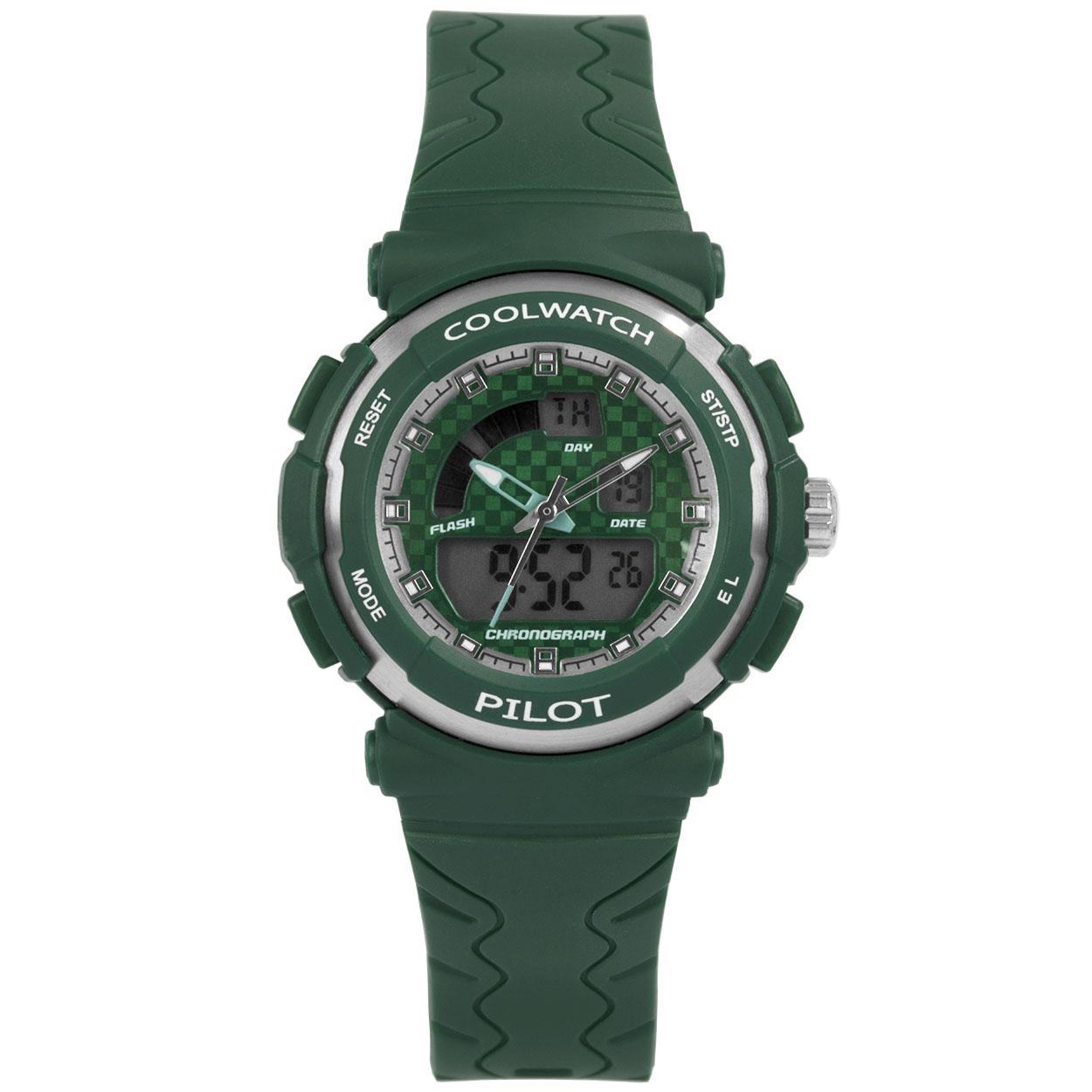 Coolwatch by Prisma CW.273 Kinderhorloge Analoog/Digitaal siliconen groen 36 mm