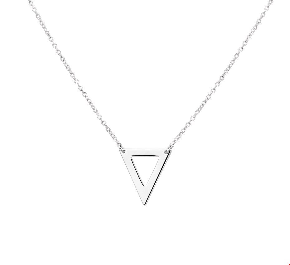 TFT Zilveren Ketting Driehoek 1,2 mm x 41+4 cm