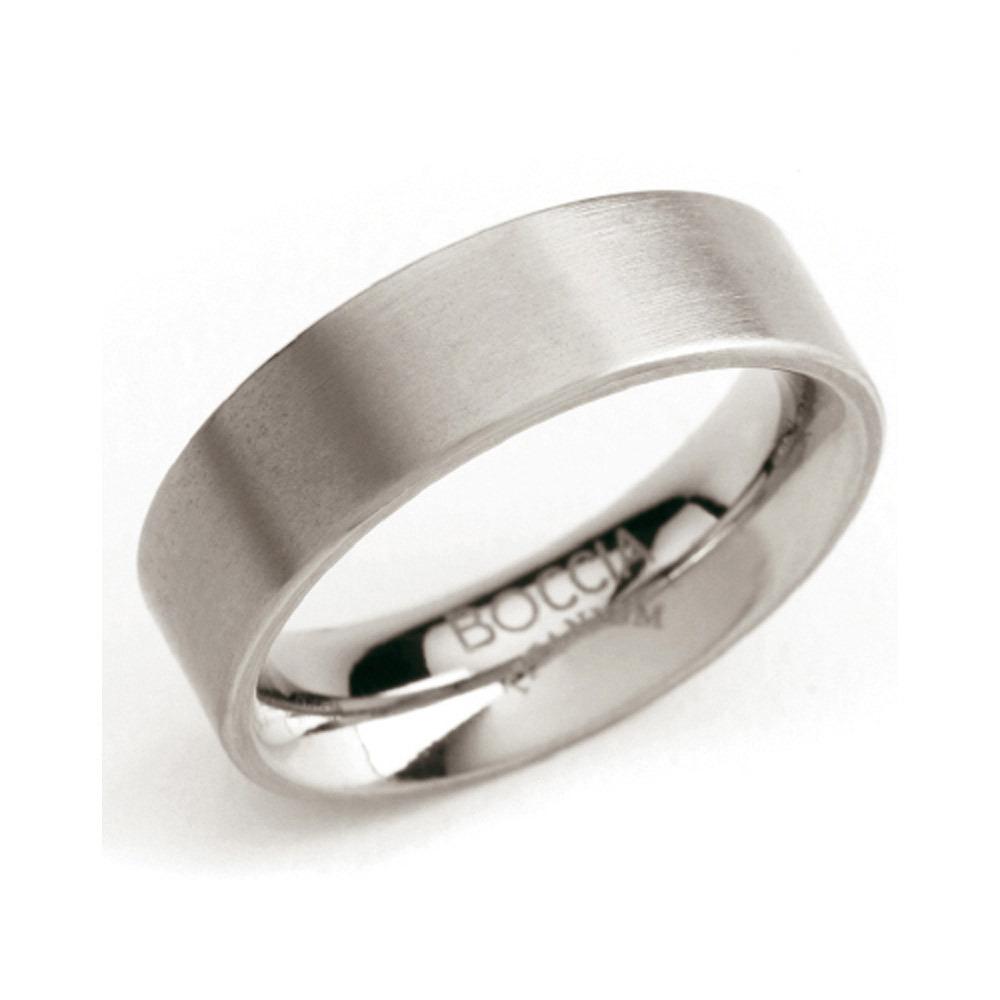 Boccia 0101-01 Ring Titanium zilverkleurig 6 mm Maat 52