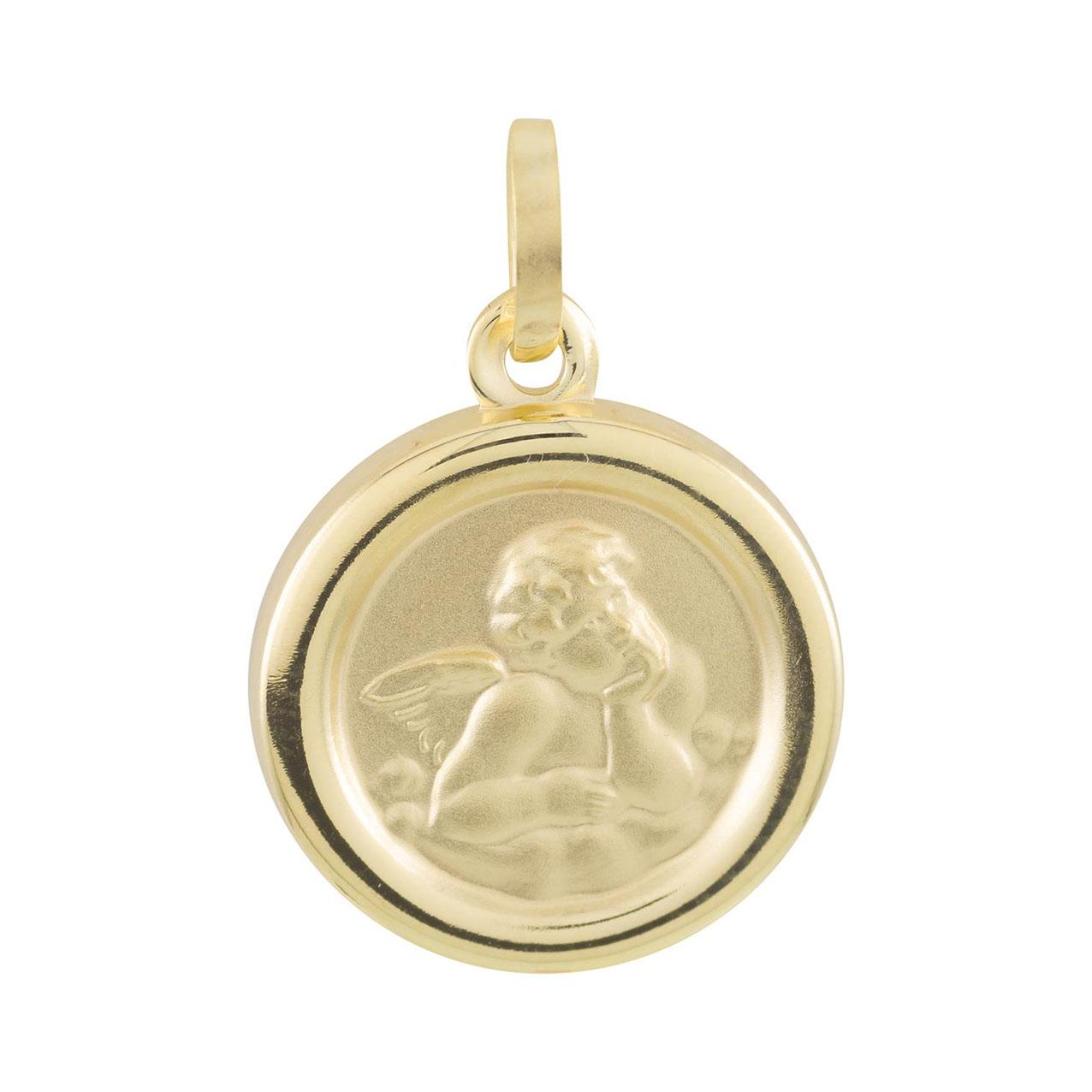 Gouden Cupido Rond en half massief 14 mm 247.0050.00