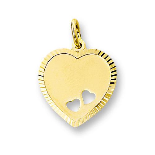 Huiscollectie 4006170 Gouden graveerplaat hartvormig