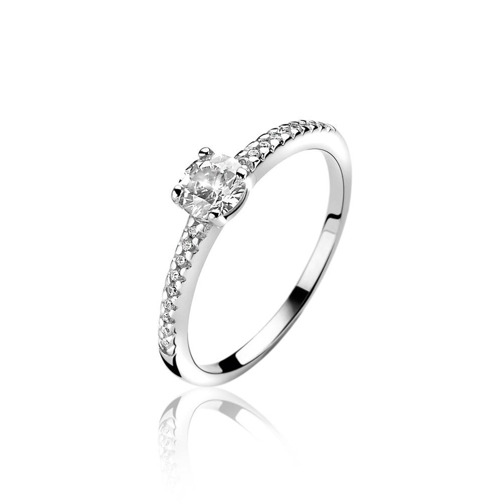 Zinzi ZIR1081 Ring zilver met zirconia Maat 56