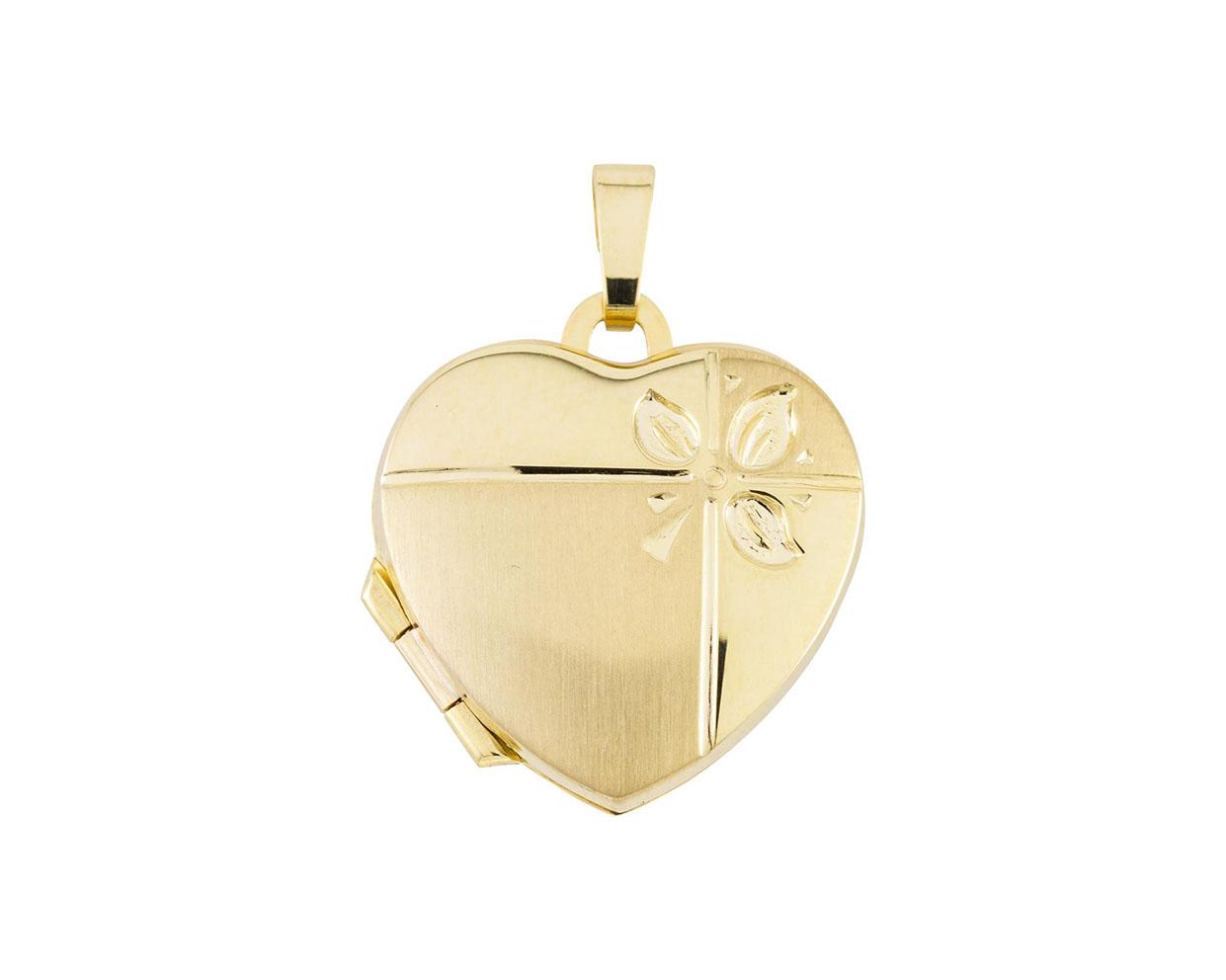 Glow Gouden Medaillon 'Hart' 18 x 24 mm 245.0090.00