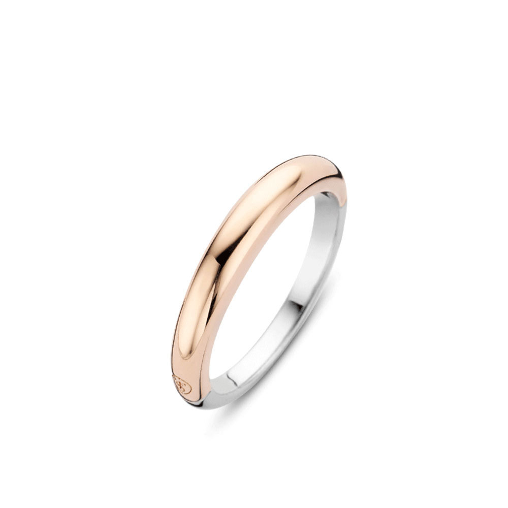 Ti Sento Milano 12104SR Ring zilver rosekleurig 2 3,5 mm Maat 50