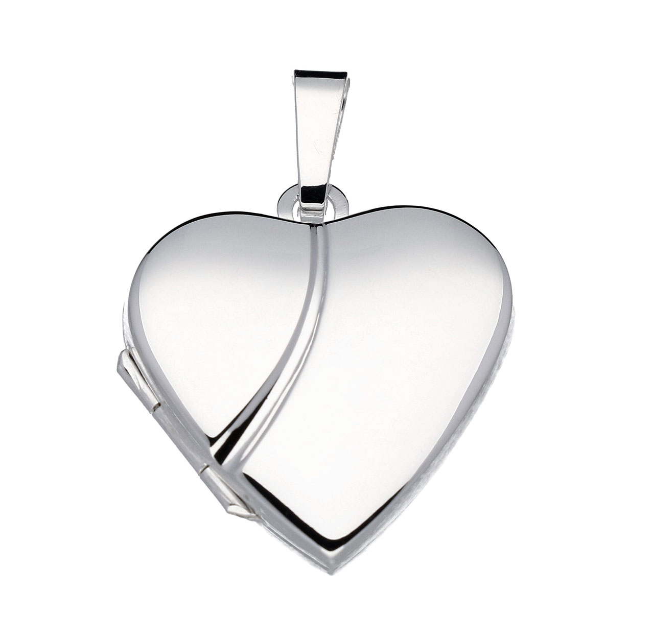 Zilveren Medaillon 'Hart' glad 20 mm 145.0036.00