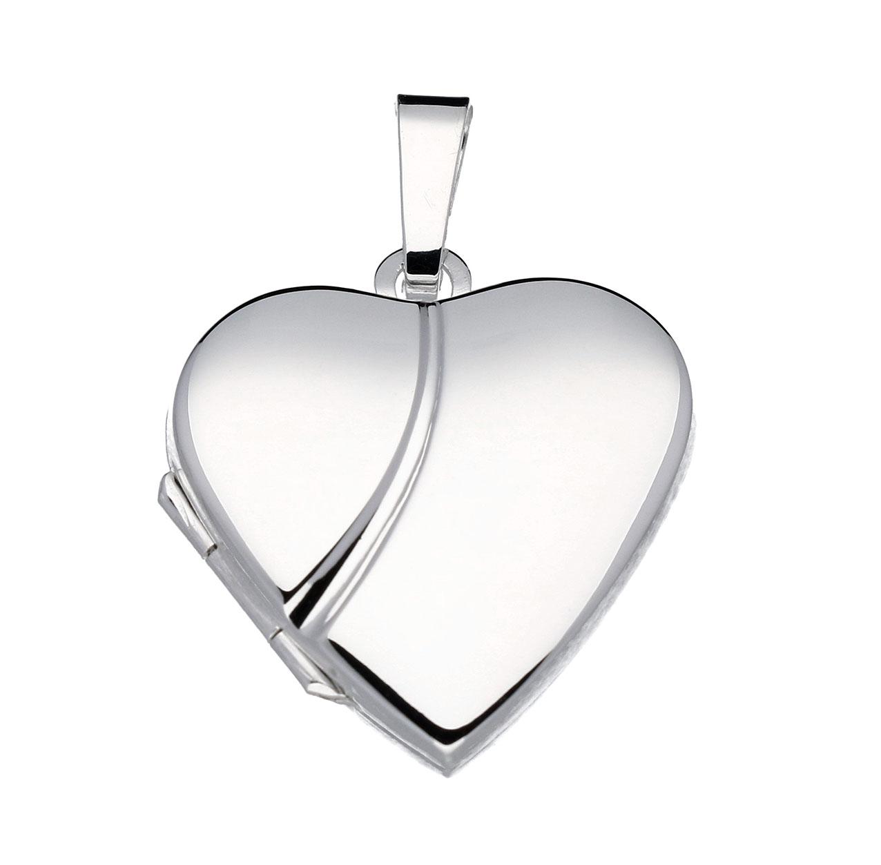 Zilveren Medaillon Hart glad 20 mm 145.0036.00