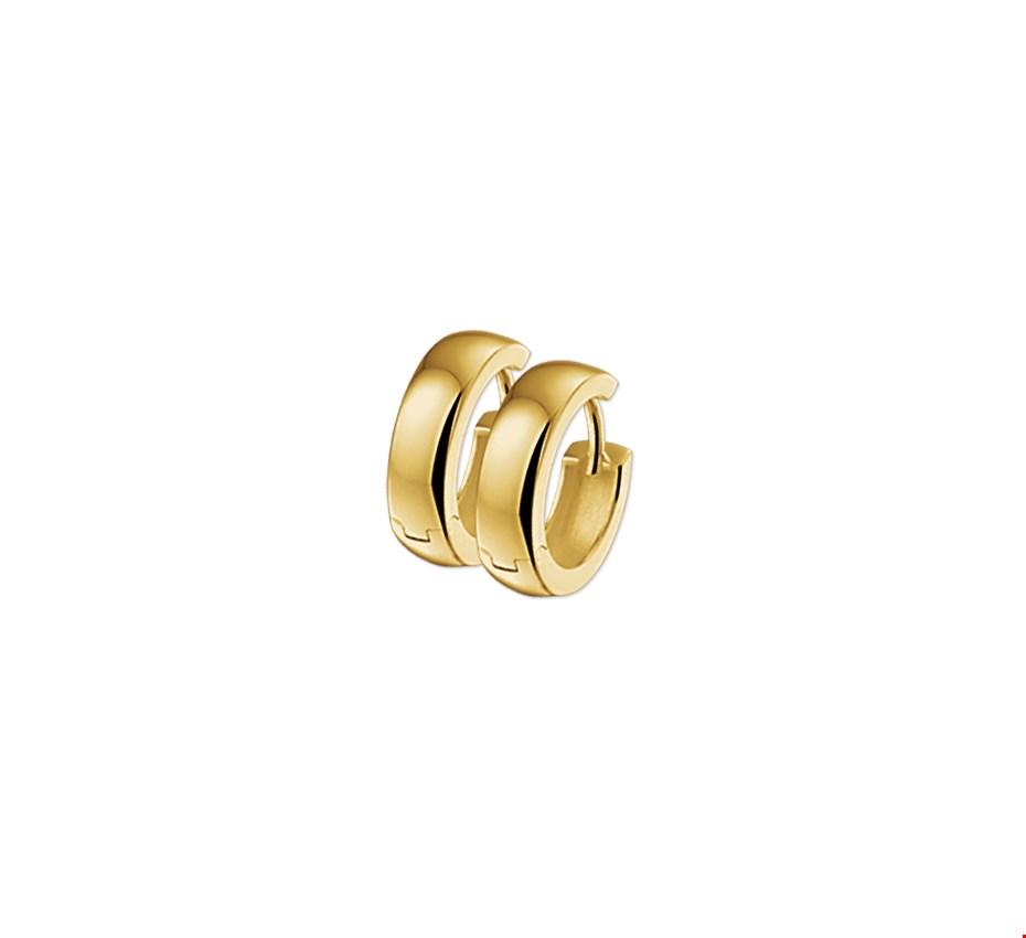 The Jewelry Collection Klapcreolen 4,0 mm Bol - Geelgoud (14 Krt.)