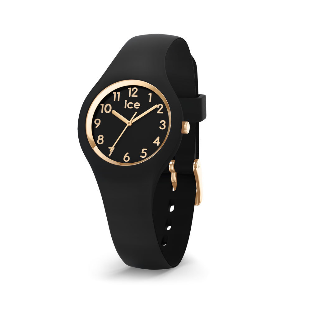 Ice-Watch IW015342 Ice Glam Black Goldplated Numbers Extra small 28 mm horloge
