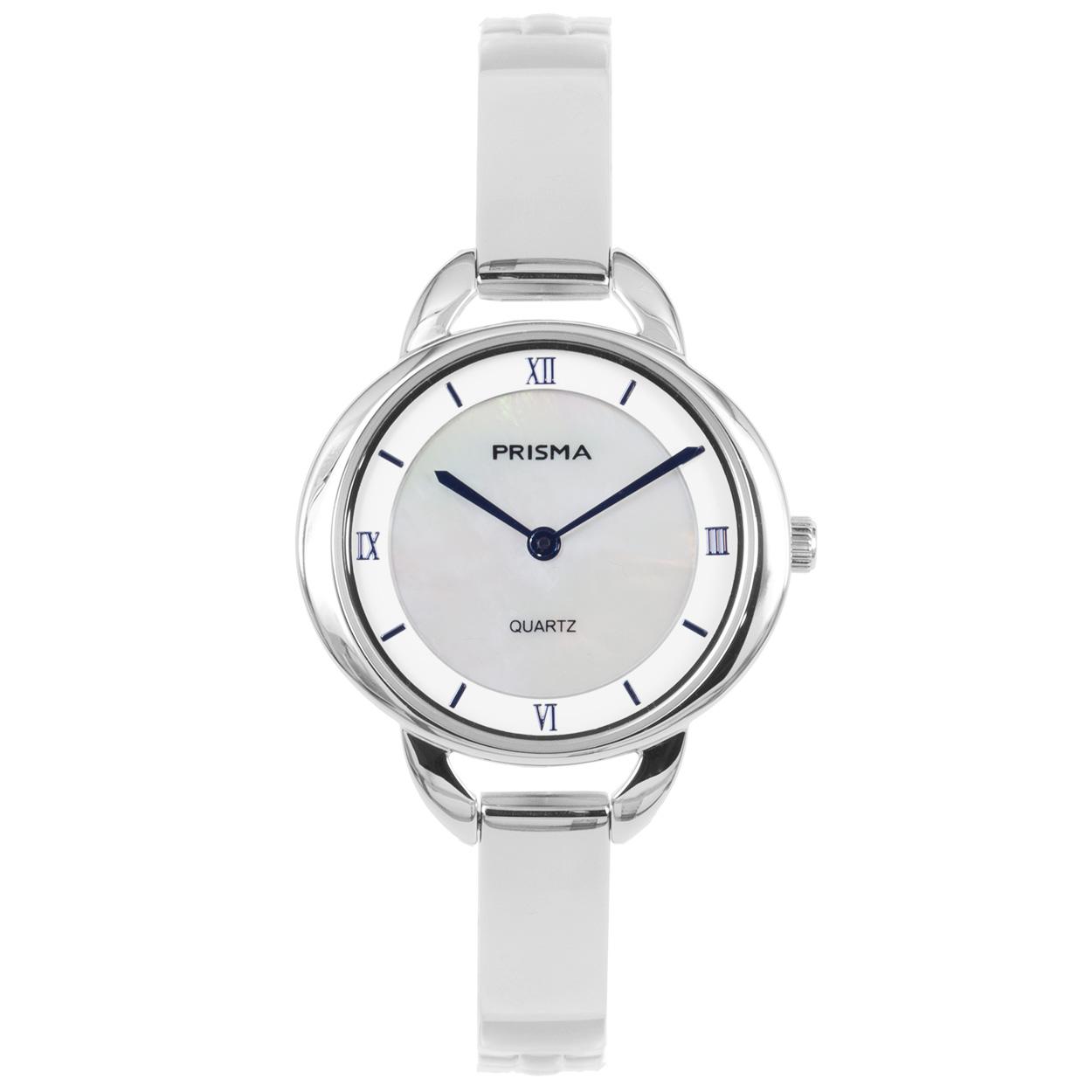 Prisma Dames Simplicity Oval Silver horloge P.1465