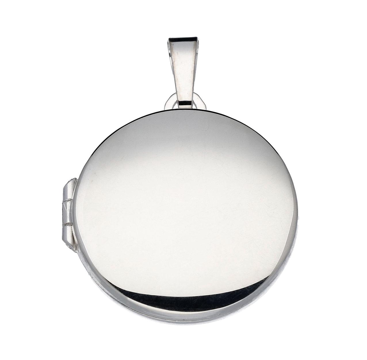 Zilveren Medaillon Rond glad - 22 mm 145.0041.00