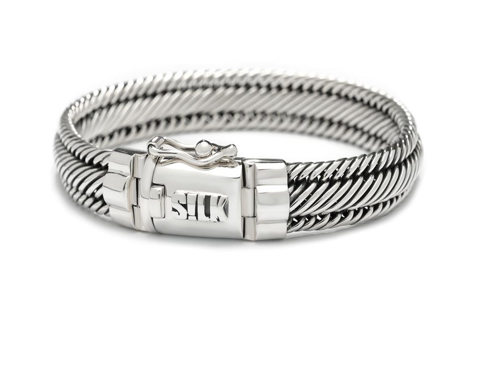 Silk Jewellery Armband zilver 'Madonna' 19 cm 7733-19