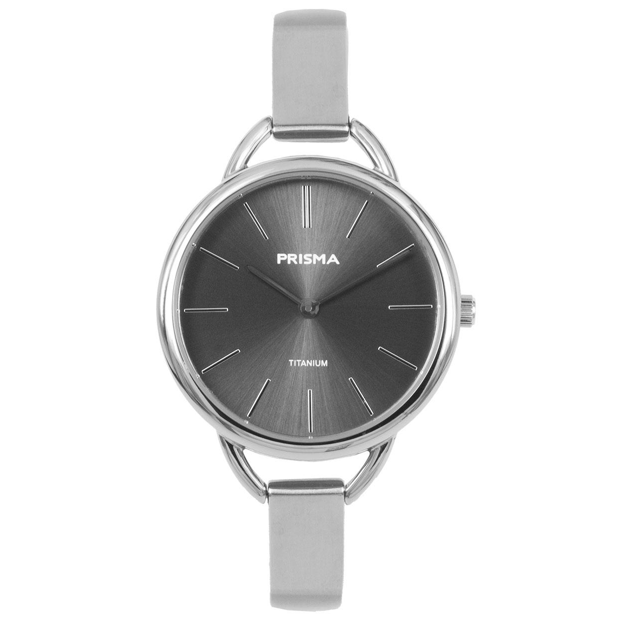 Prisma Dames Simplicity Titanium grijs horloge P.1479