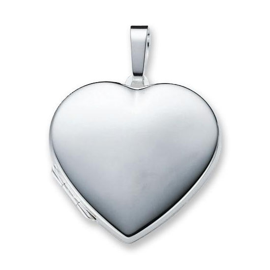 Zilveren Medaillon 'Hart' glad 29 mm 145.0063.00