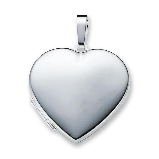 Zilveren Medaillon Hart glad 29 mm 145.0063.00