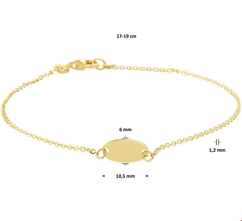 TFT Armband Goud Ovaal 1,2 mm 17 19 cm