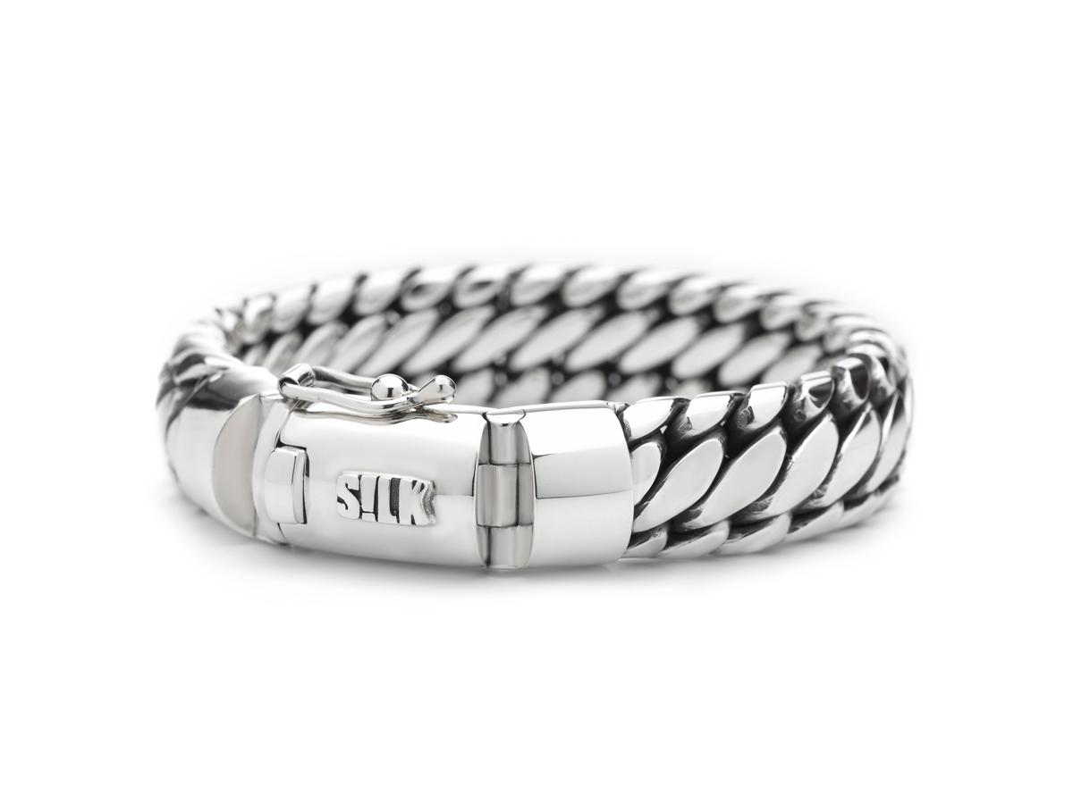 Silk Jewellery Armband zilver 'Shiva' 21 cm 391-21