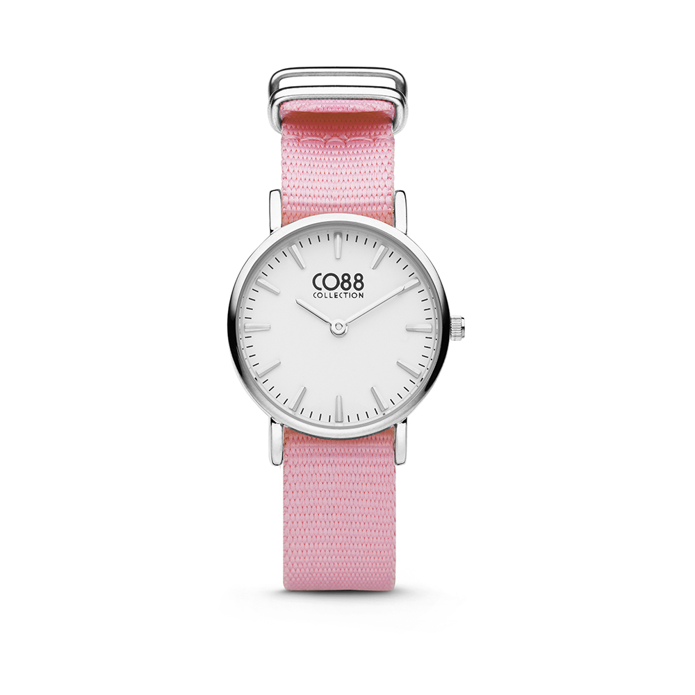 CO88 Collection 8CW-10039 - Horloge - nato band - roze - o 26 mm