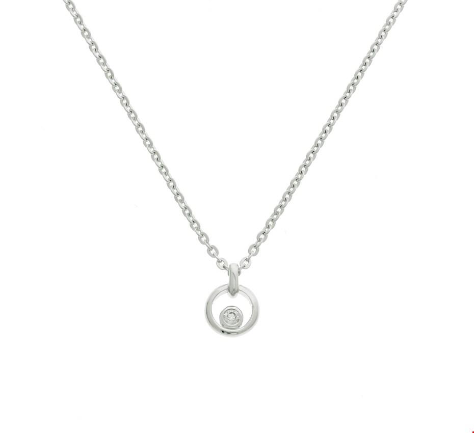 TFT Zilveren Ketting Zirkonia 41 + 4 cm