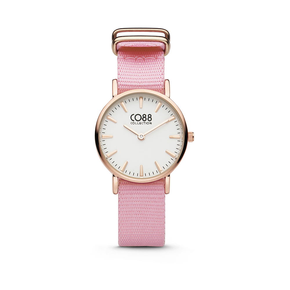 CO88 Collection 8CW-10040 - Horloge - nato band - roze - o 26 mm