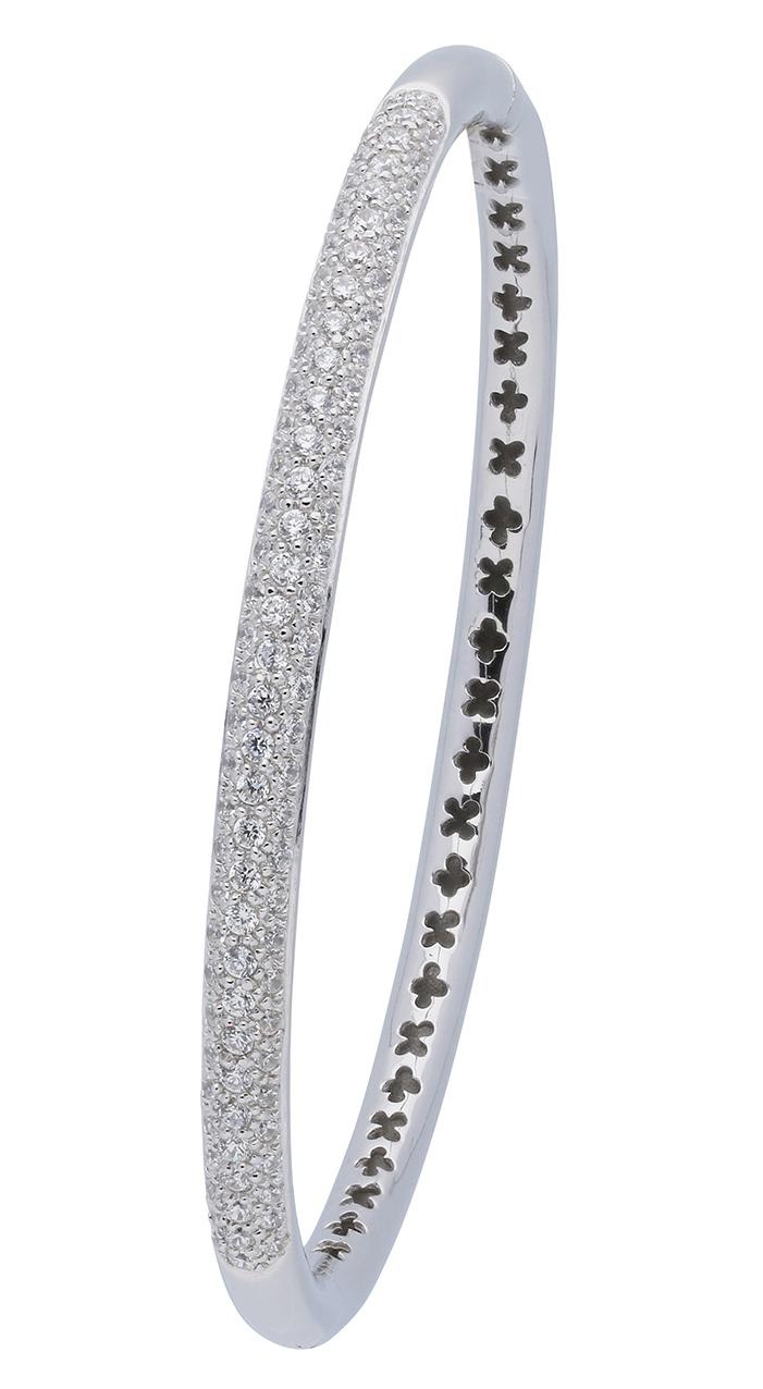 Afbeelding van Classics Zilveren Slavenarmband zirkonia 3 mm breed Rond 60 104.1113.03