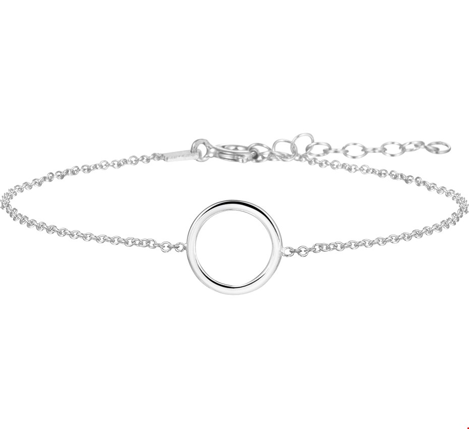 TFT Armband Zilver Rondje 1,3 mm 16 + 3 cm