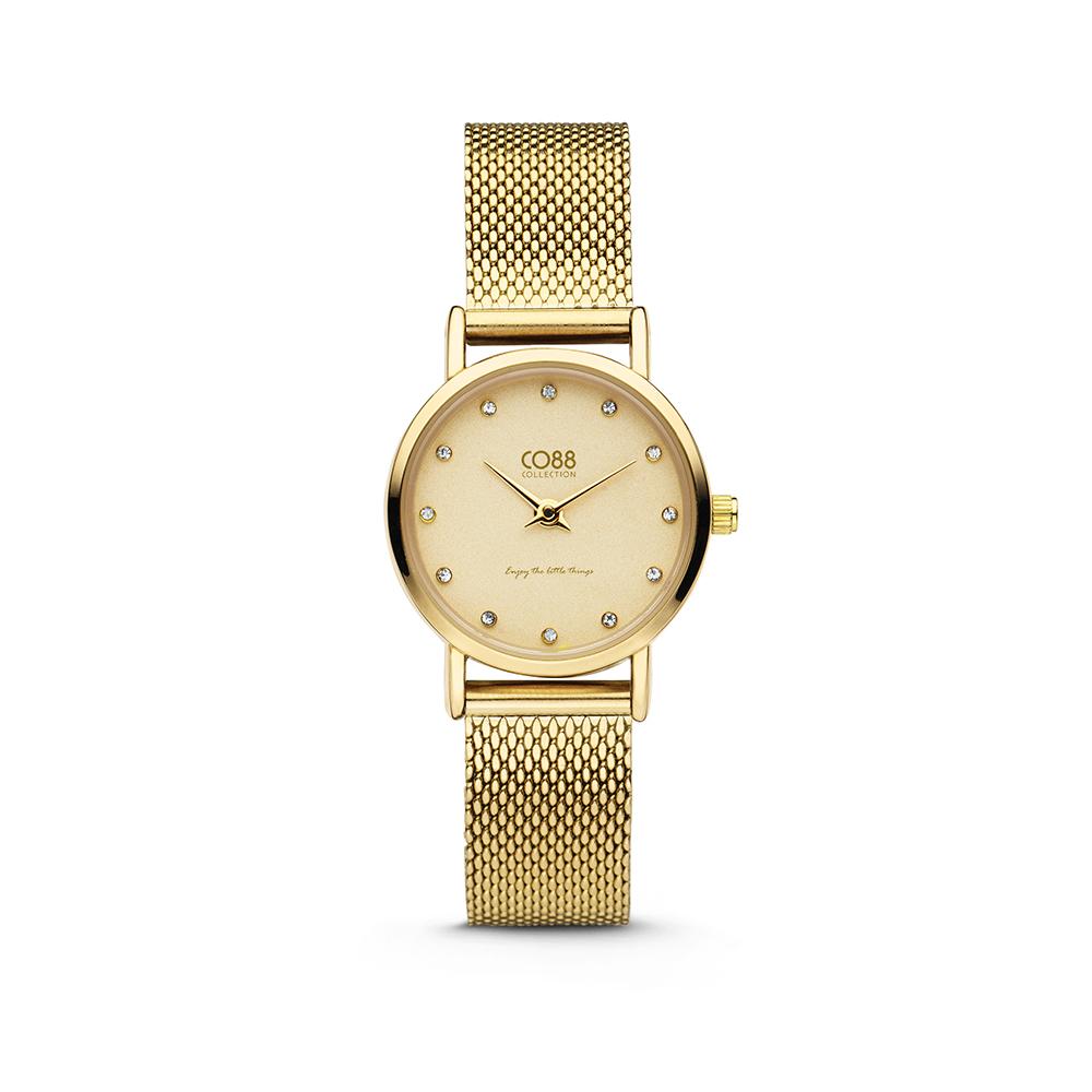 CO88 Collection 8CW-10062 - Horloge - mesh band - goudkleurig - o 24 mm