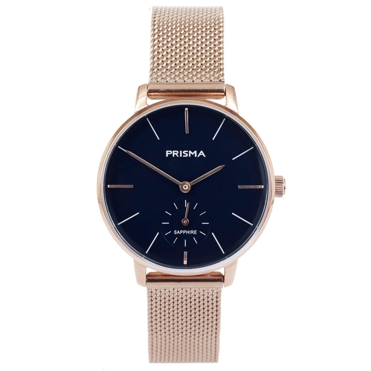 Prisma P.1443 Horloge Mesh staal rosekleurig-blauw 32 mm