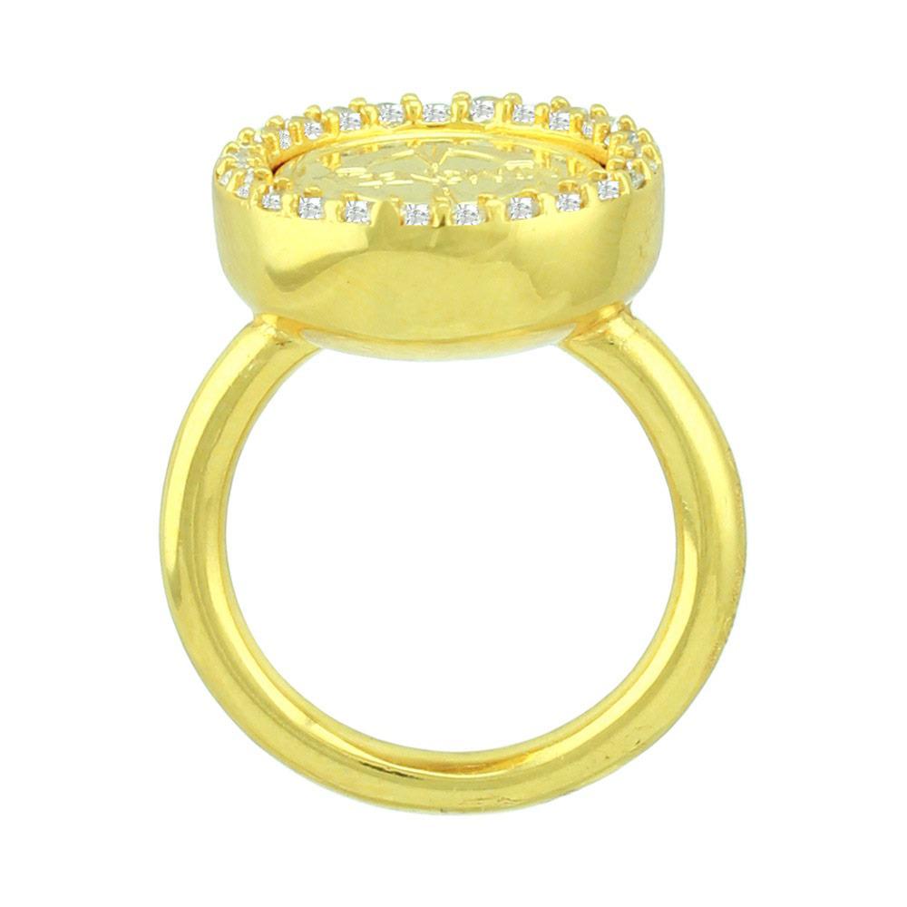 Mi Moneda RIN-AMO-LU-02 Ring Avo De Luxe Silver goudkleurig Maat 56