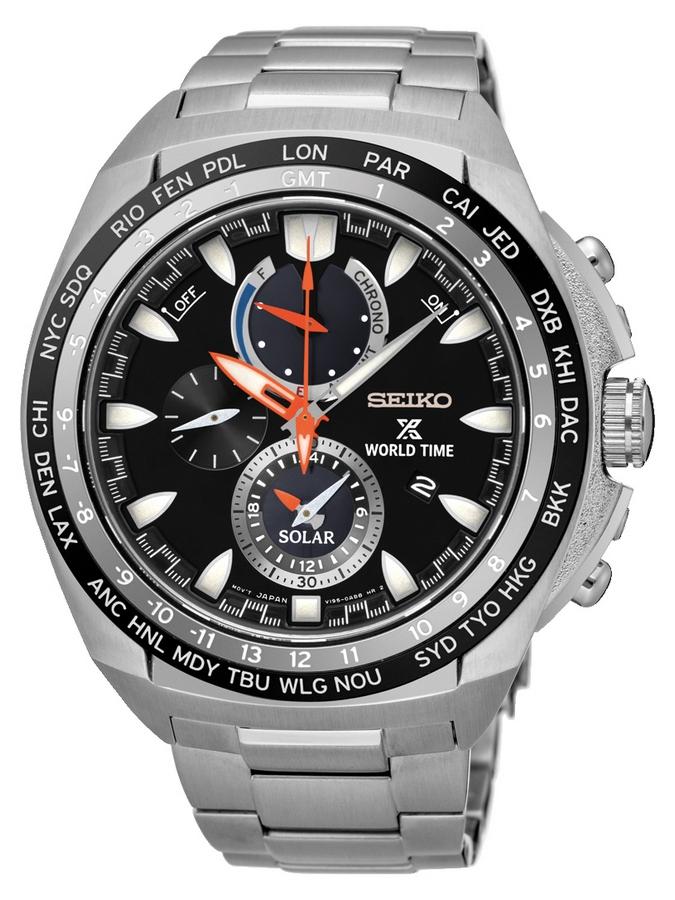 Seiko Prospex Herenhorloge Alarm, Chronograaf & Solar SSC487P1