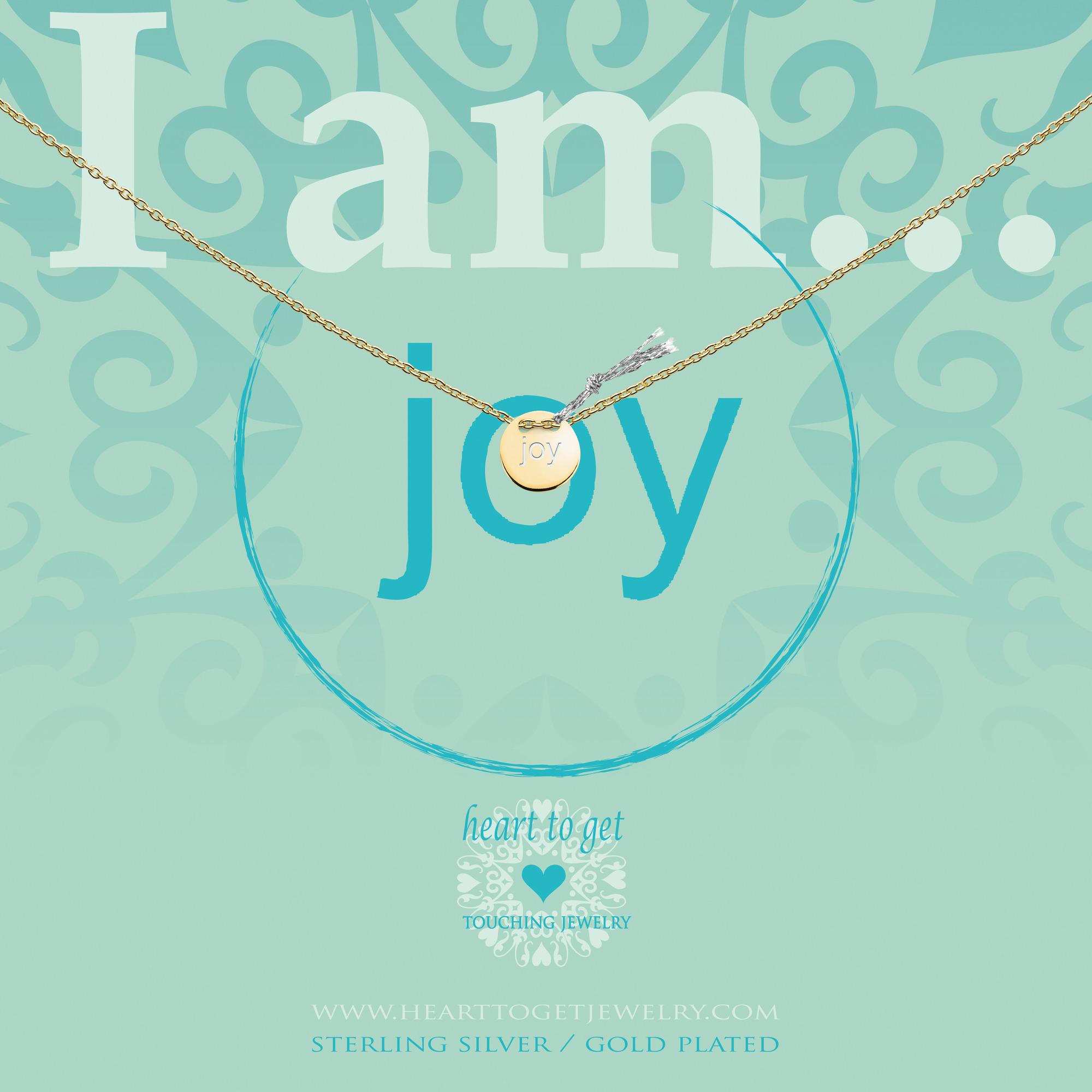 Heart to get IAM432N-JOY-G joy ketting zilver goudkleurig