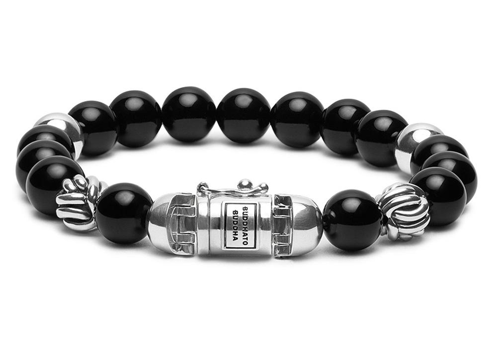 Buddha to Buddha 188ON armband Spirit Bead Onyx (E) 19 cm