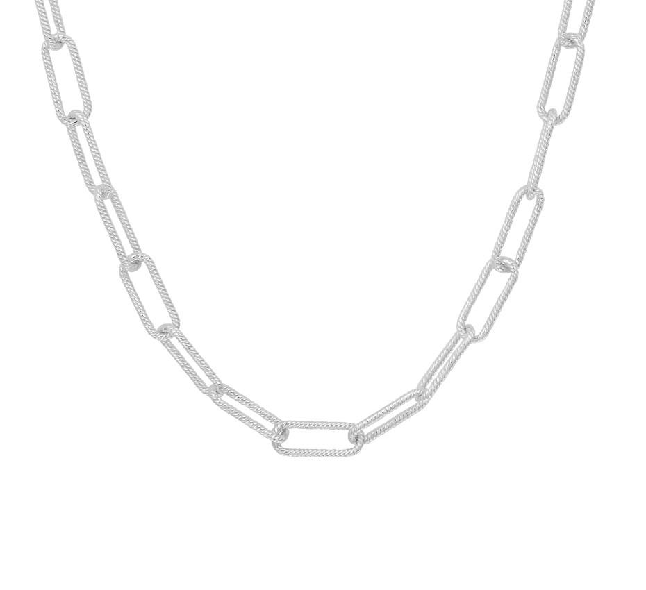 TFT Zilveren Ketting Anker Gediamanteerd 5,0 mm 40 + 4 cm