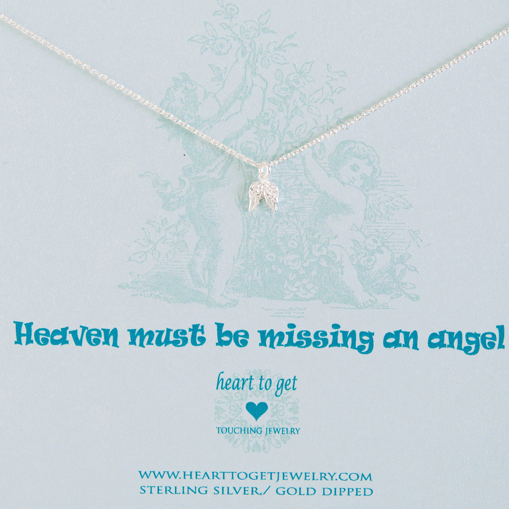 Heart to Get N12ANG11S Ketting zilver Heaven must be missing an angel