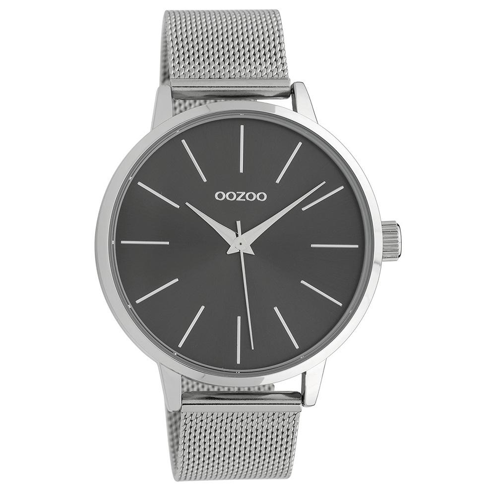 OOZOO C10007 Horloge Timepieces Collection staal zilverkleurig-grijs 42 mm