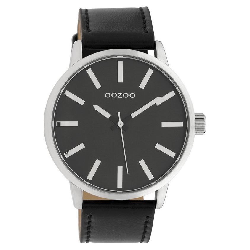 OOZOO C10034 Horloge Timepieces Collection staal zilverkleurig zwart 48 mm