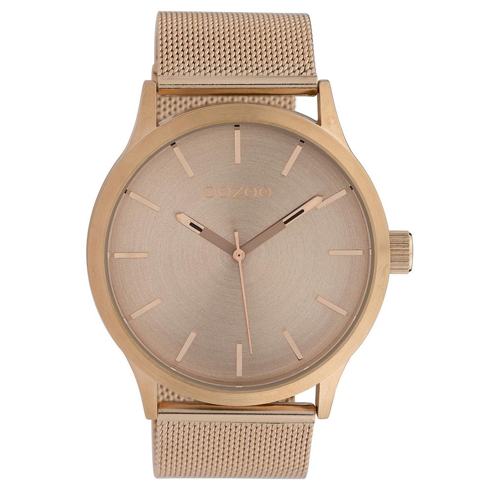 OOZOO C10057 Horloge Timepieces Mesh staal rosekleurig 45 mm
