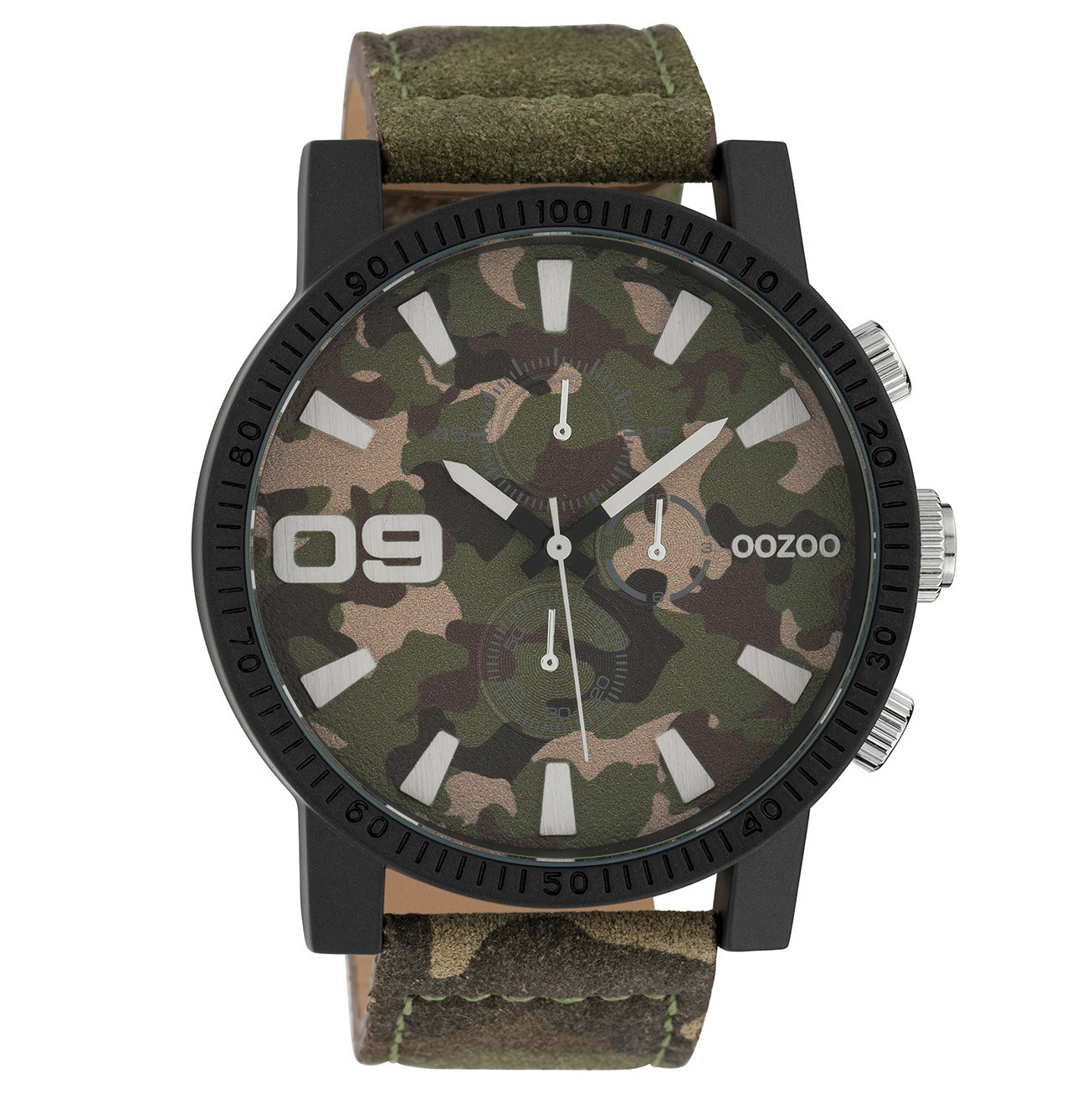 OOZOO C10066 Horloge Timepieces Collection staal darkarmy 50 mm