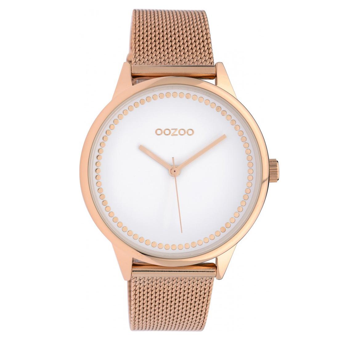 OOZOO C10094 Horloge Timepieces Collection staal rosekleurig 40 mm