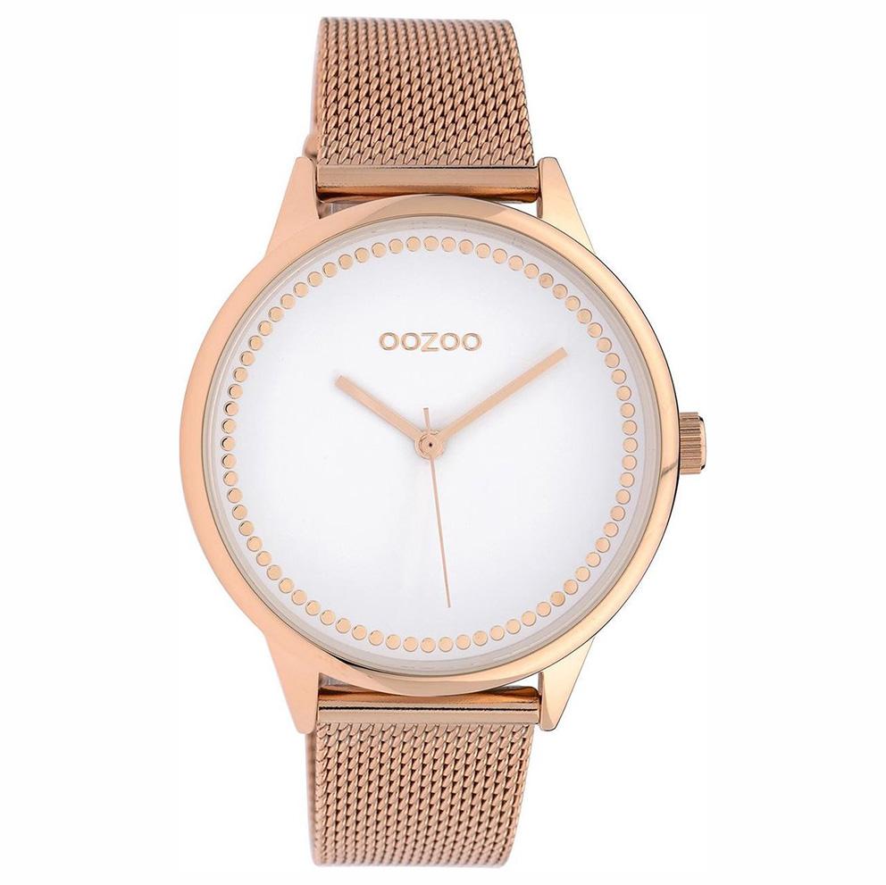 OOZOO C10093 Horloge Timepieces Collection staal goudkleurig-zwart 40 mm
