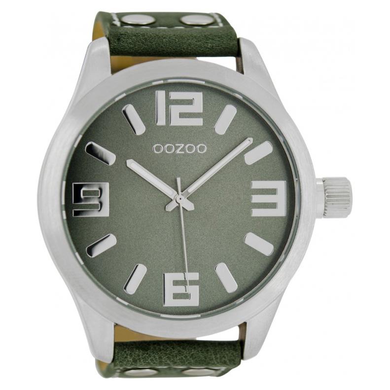 OOZOO C1011 Horloge Timepieces Collection groen 51 mm